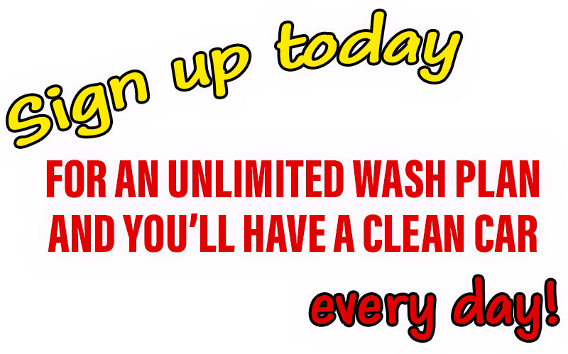 SIGN UP FOR UNLIMITED WASH CLUB CAR WASHES